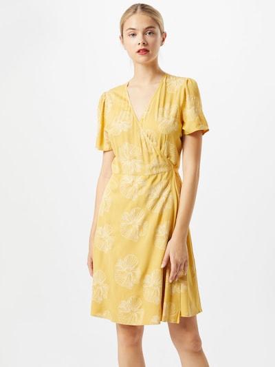 minimum Letní šaty - žlutá / bílá: Pohled zepředu