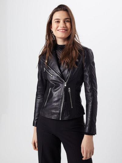 tigha Lederjacke 'Margarita' in schwarz, Modelansicht