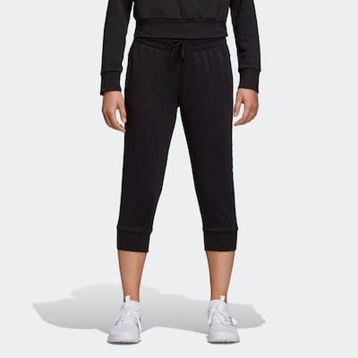 ADIDAS PERFORMANCE Hose 'Essentials Linear' in schwarz / weiß, Modelansicht