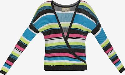 MYMO Pullover in himmelblau / kiwi / pink / schwarz / weiß, Produktansicht