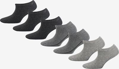 camano 7 Paar Sneaker Socken in grau: Frontalansicht