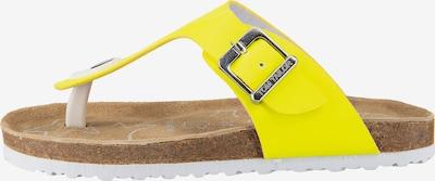 TOM TAILOR Zehentrenner in gelb, Produktansicht