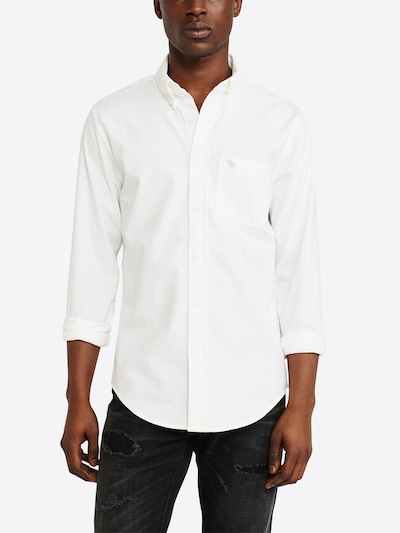 Abercrombie & Fitch Hemd 'ICON CORE OXFORD' in weiß: Frontalansicht