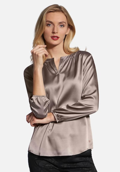 Basler Bluse in taupe: Frontalansicht