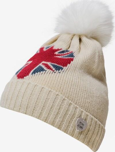 Pepe Jeans Mütze in beige / blau / rot, Produktansicht