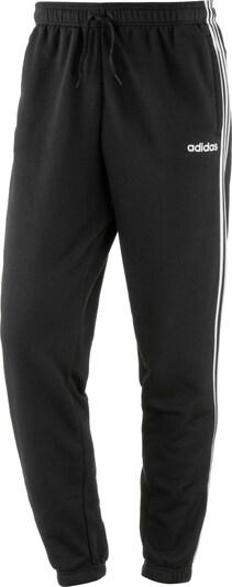 ADIDAS PERFORMANCE Sportbroek 'Essentials' in de kleur Zwart / Wit: Vooraanzicht