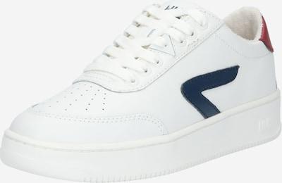 HUB Baskets basses 'Baseline' en bleu marine / rouge / blanc, Vue avec produit