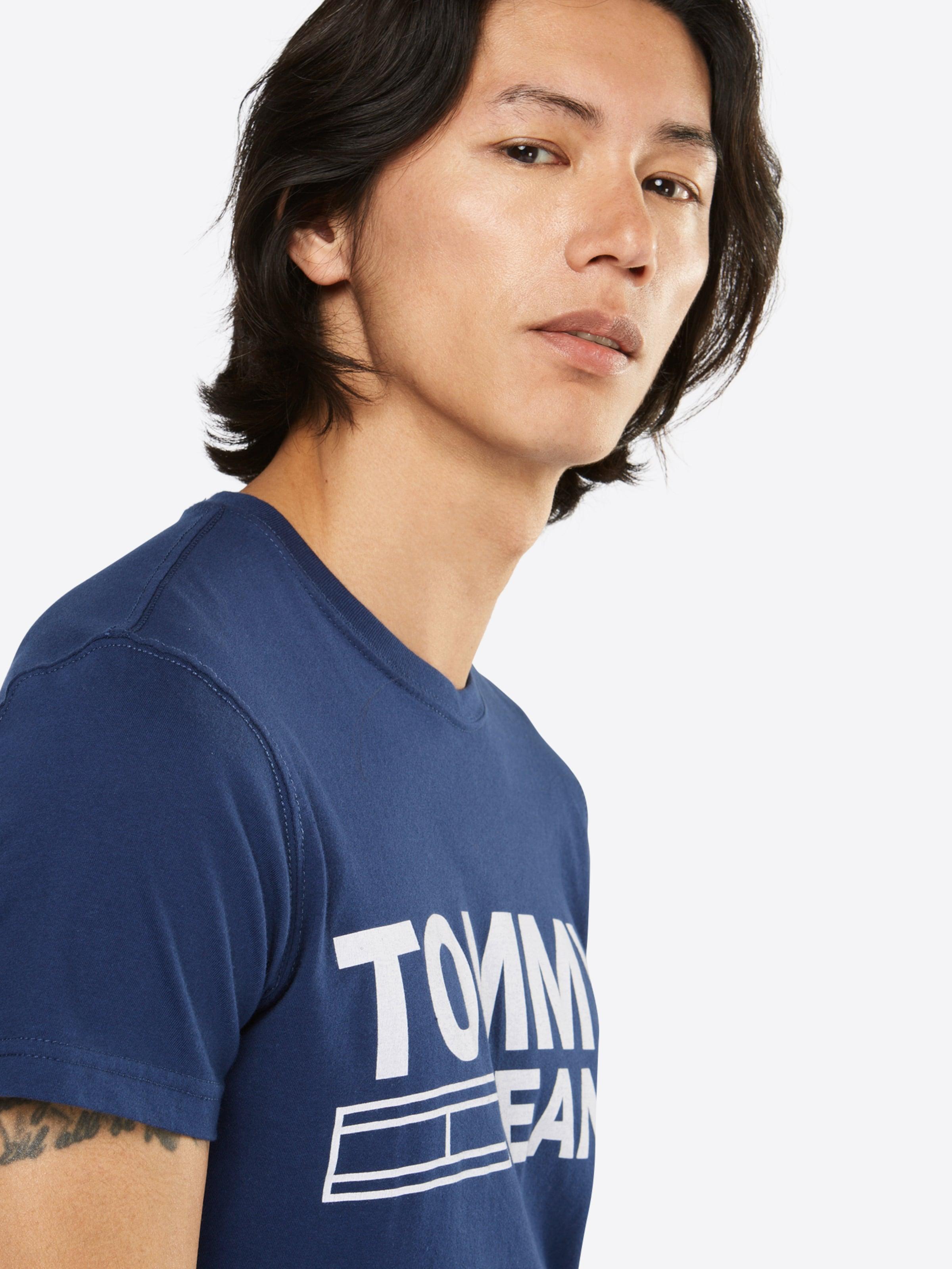 Tommy Jeans Logo-Shirt mit Print Rabatt Niedriger Preis ZKoKy4
