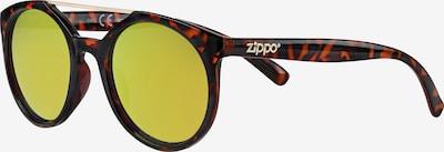 ZIPPO Sonnenbrille rund 'Yellow Multicoating' Steg in braun, Produktansicht