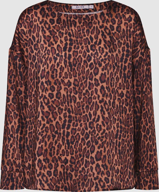 NA-KD Blausen 'leopard blouse' in braun   schwarz  Mode neue Kleidung