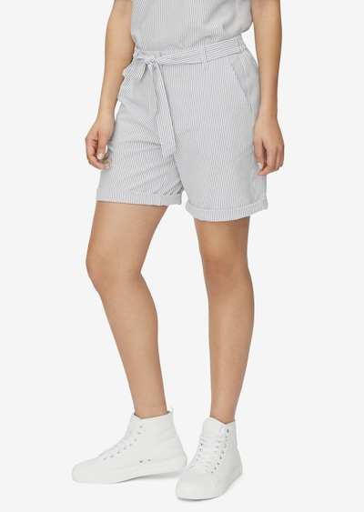 Marc O'Polo Shorts in grau / weiß, Modelansicht