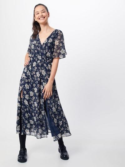 Mavi Kleid in navy / karamell / offwhite, Modelansicht