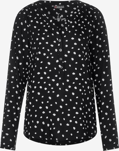 STREET ONE Bluse in schwarz / weiß, Produktansicht
