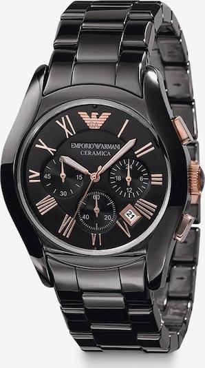 Emporio Armani Uhren in rosegold / schwarz, Produktansicht