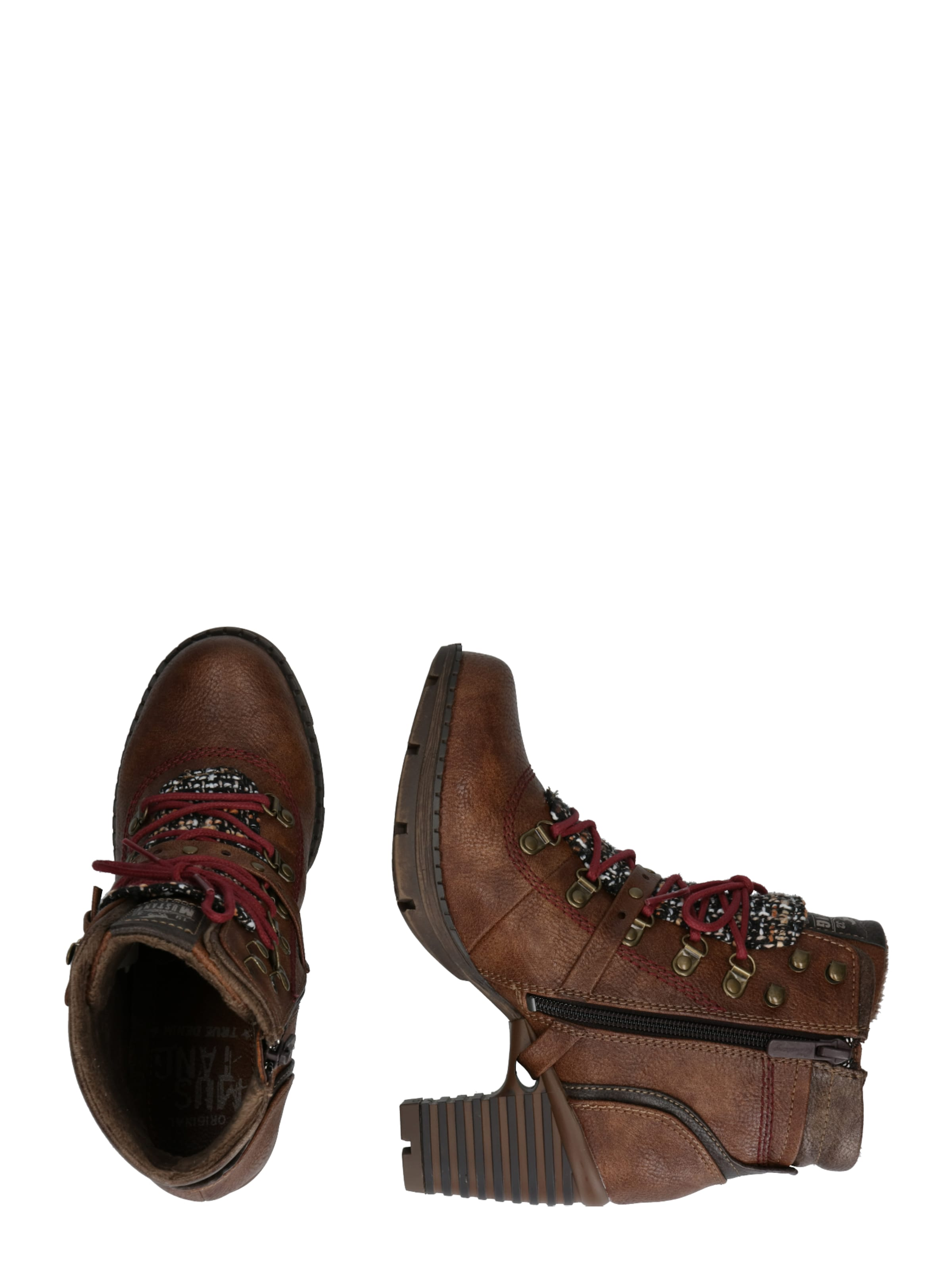 Mustang Lacets En Marron Bottines À HE9IWD2