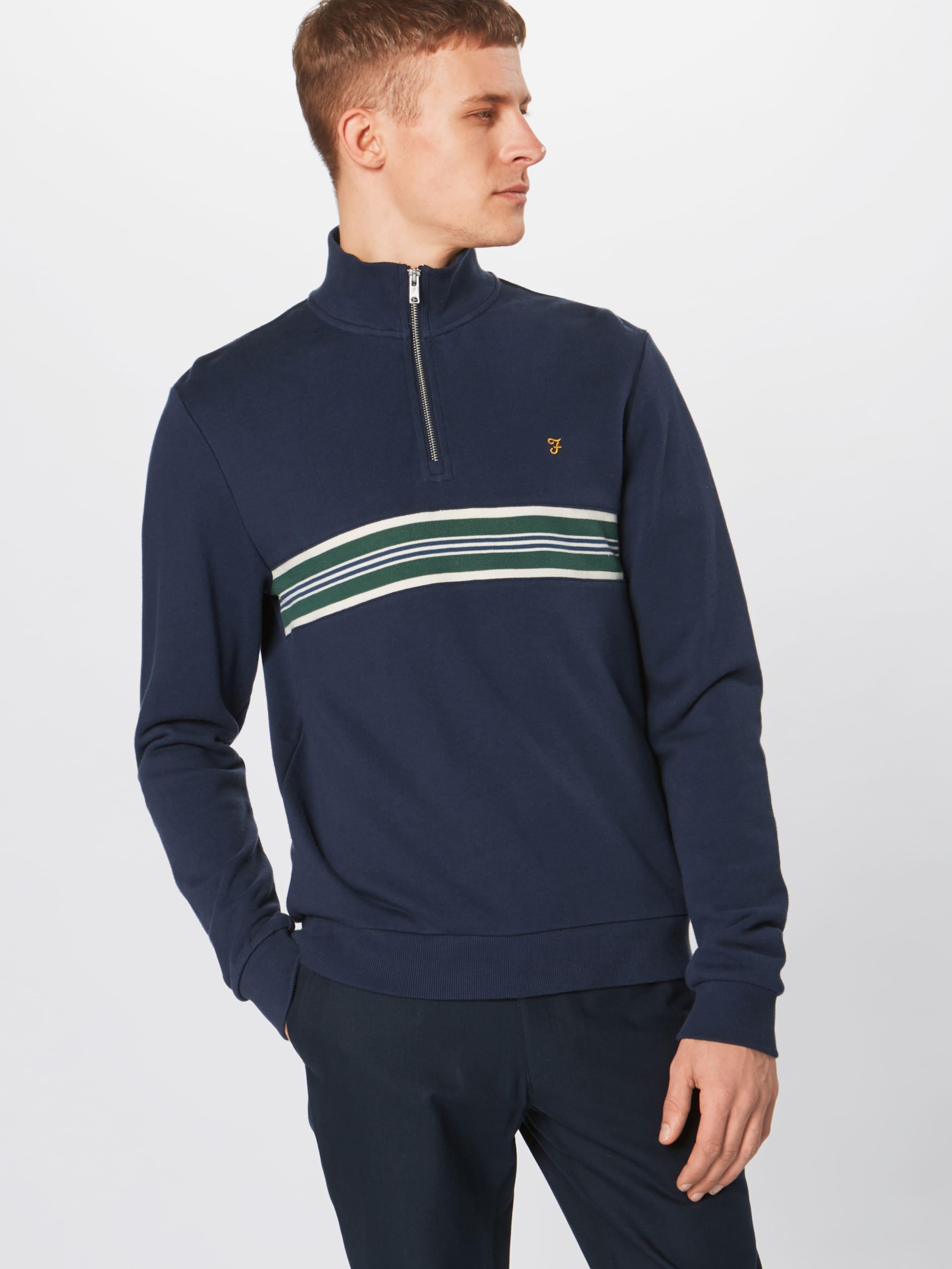 Sweatshirt 'leeds' In Farah DunkelblauDunkelgrün Weiß 1KJFcTl3