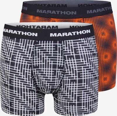 MARATHON Shorts in dunkelorange / schwarz / weiß, Produktansicht