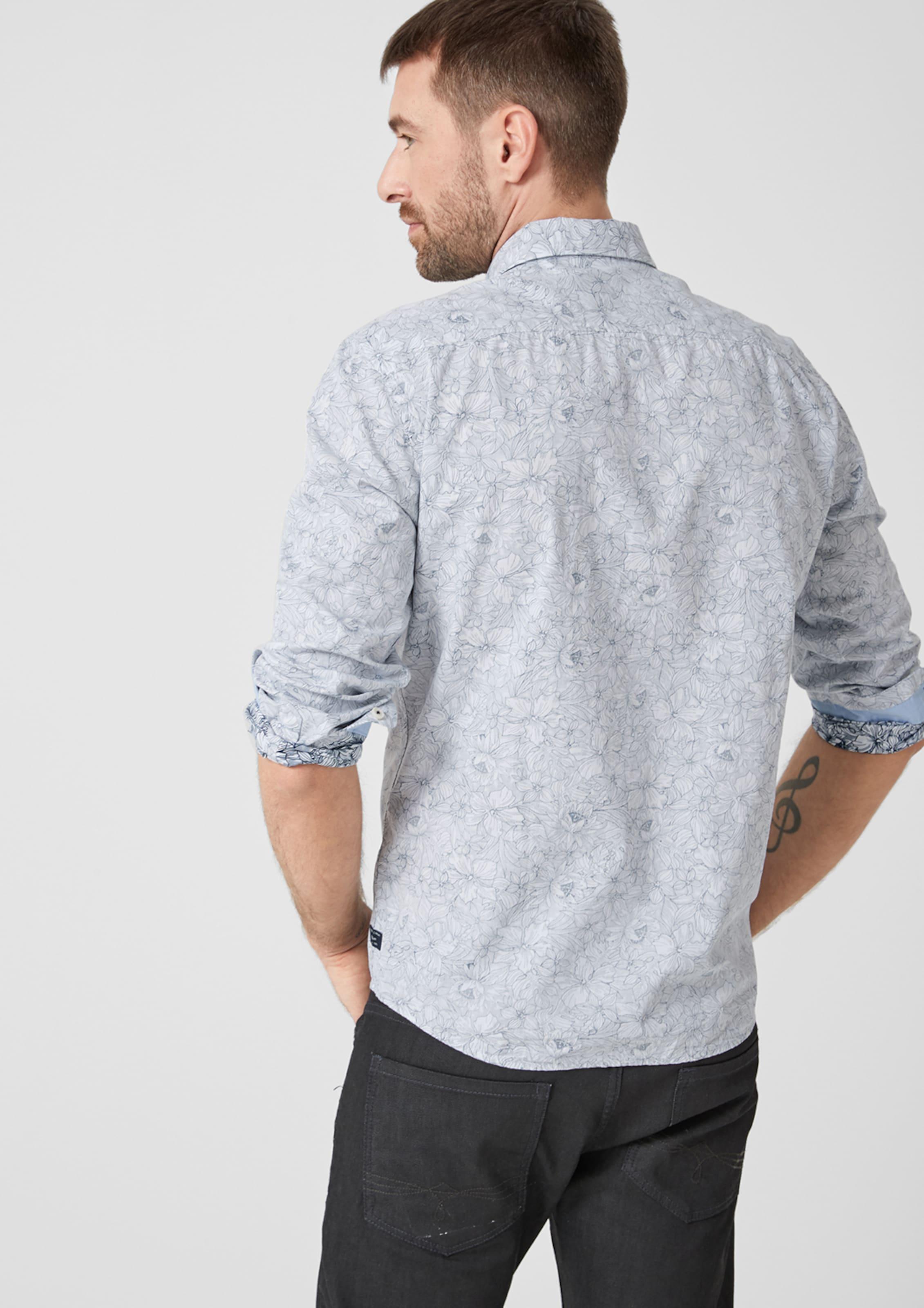 S S S oliver RauchblauWeiß Hemd In oliver RauchblauWeiß Hemd Hemd In oliver m0v8nONw