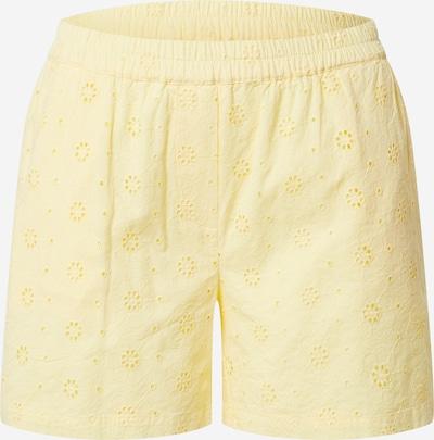 PIECES Kalhoty 'CALONDA' - pastelově žlutá: Pohled zepředu