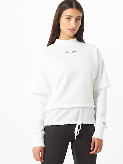 Champion Authentic Athletic Apparel Sweatshirt in weiß: Frontalansicht