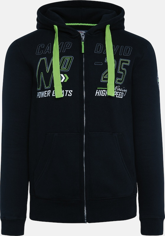 CAMP DAVID Hoodie in schwarz, Produktansicht
