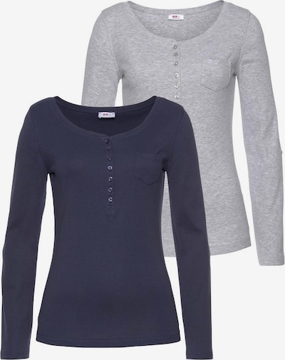 FLASHLIGHTS Langarmshirt in blau / grau, Produktansicht
