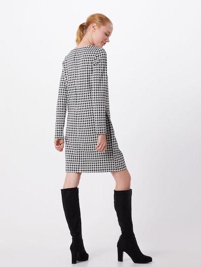 COMMA Obleka | črna / bela barva: Pogled od zadnje strani