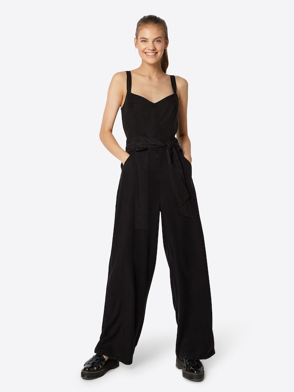 EDC BY ESPRIT Jumpsuit in anthrazit, Modelansicht