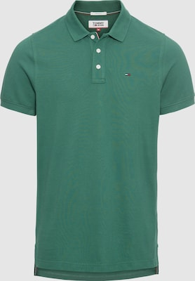 Tommy Jeans Shirt 'TJM ESSENTIAL POLO' in Donkergroen