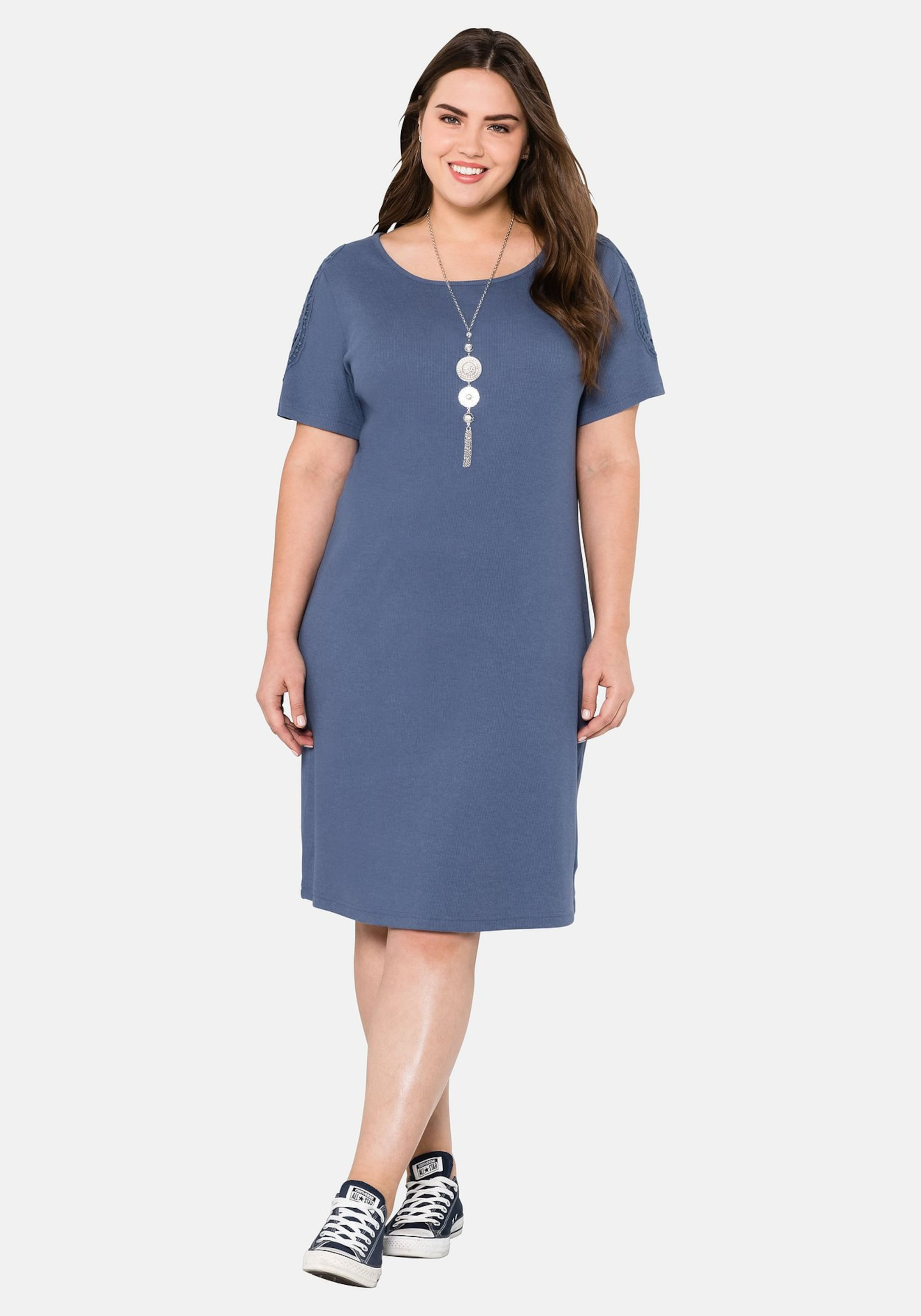 Sheego Jerseykleid In Blau Sheego Blau In Sheego Jerseykleid In Jerseykleid On0P8wk