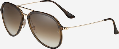 Ray-Ban Sonnenbrille in Flieger-Optik in braun / gold, Produktansicht