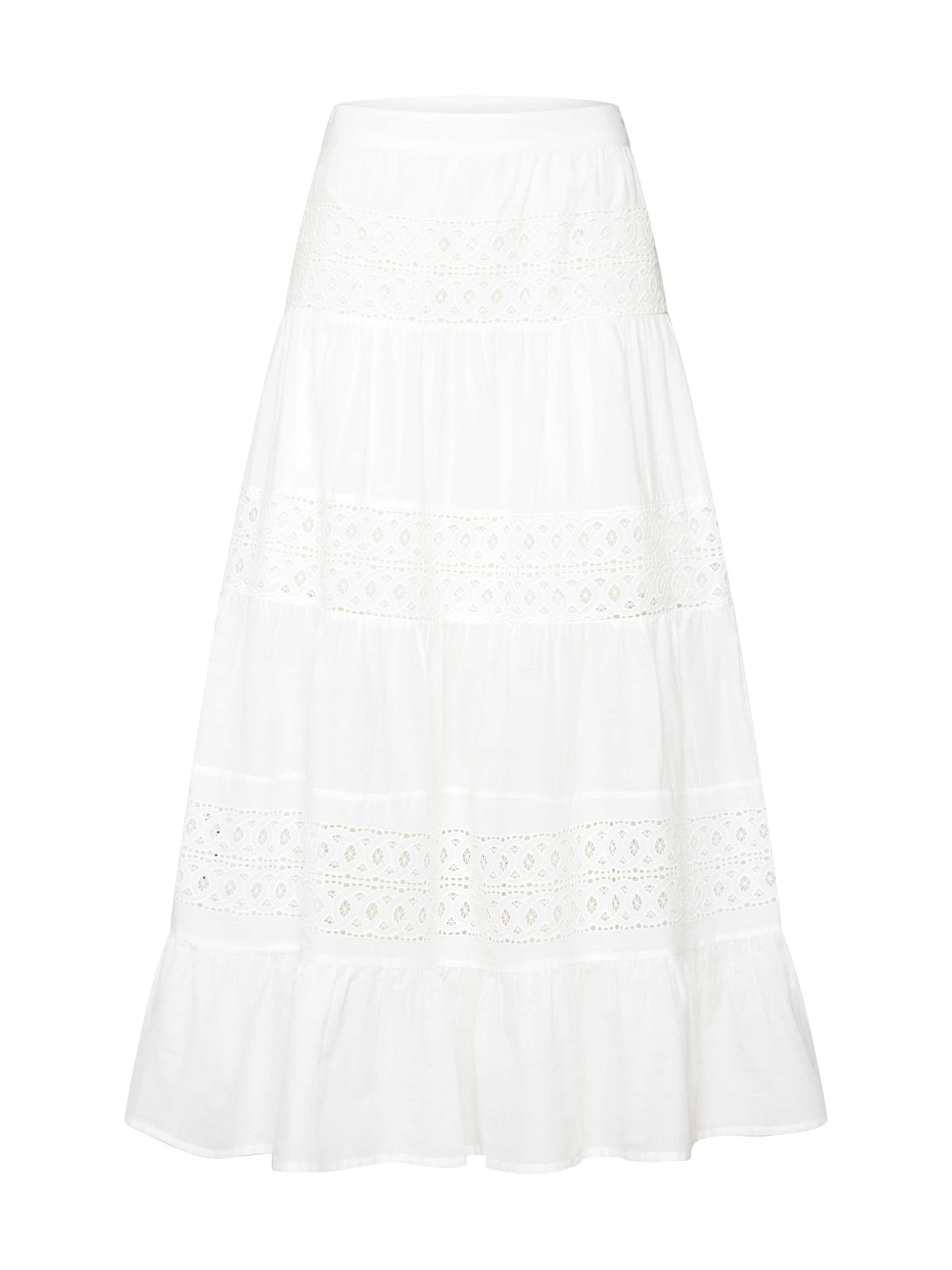 'vielenore Vila Maxi En Skirt' Jupe Blanc 7ygYf6vb