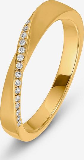 CHRIST Ring in gold / transparent, Produktansicht