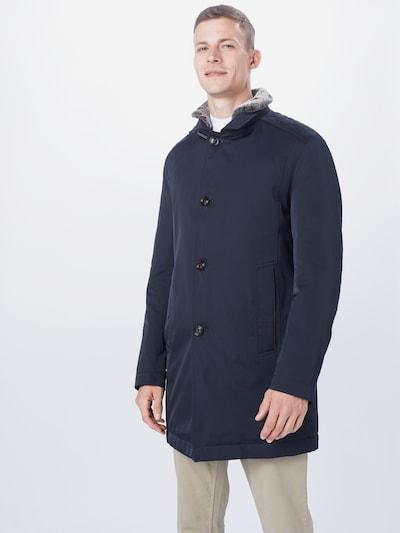 JOOP! Mantel 'Monty' in dunkelblau / grau, Modelansicht