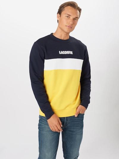 LACOSTE Sweatshirt in navy / gelb / weiß: Frontalansicht