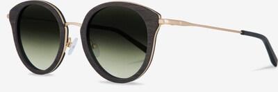 Kerbholz Sonnenbrille 'Wilhelmine' in gold / grün, Produktansicht