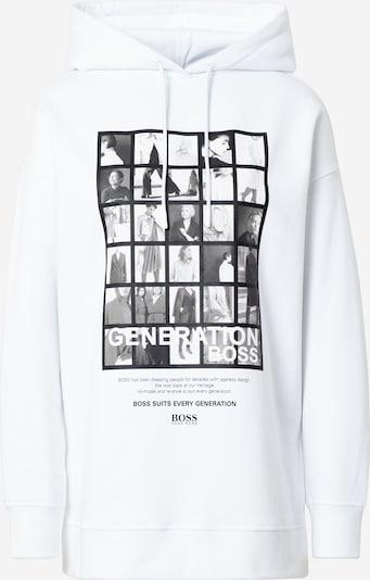 BOSS Sweatshirt 'C_Eyda' in de kleur Grijs / Zwart / Wit, Productweergave