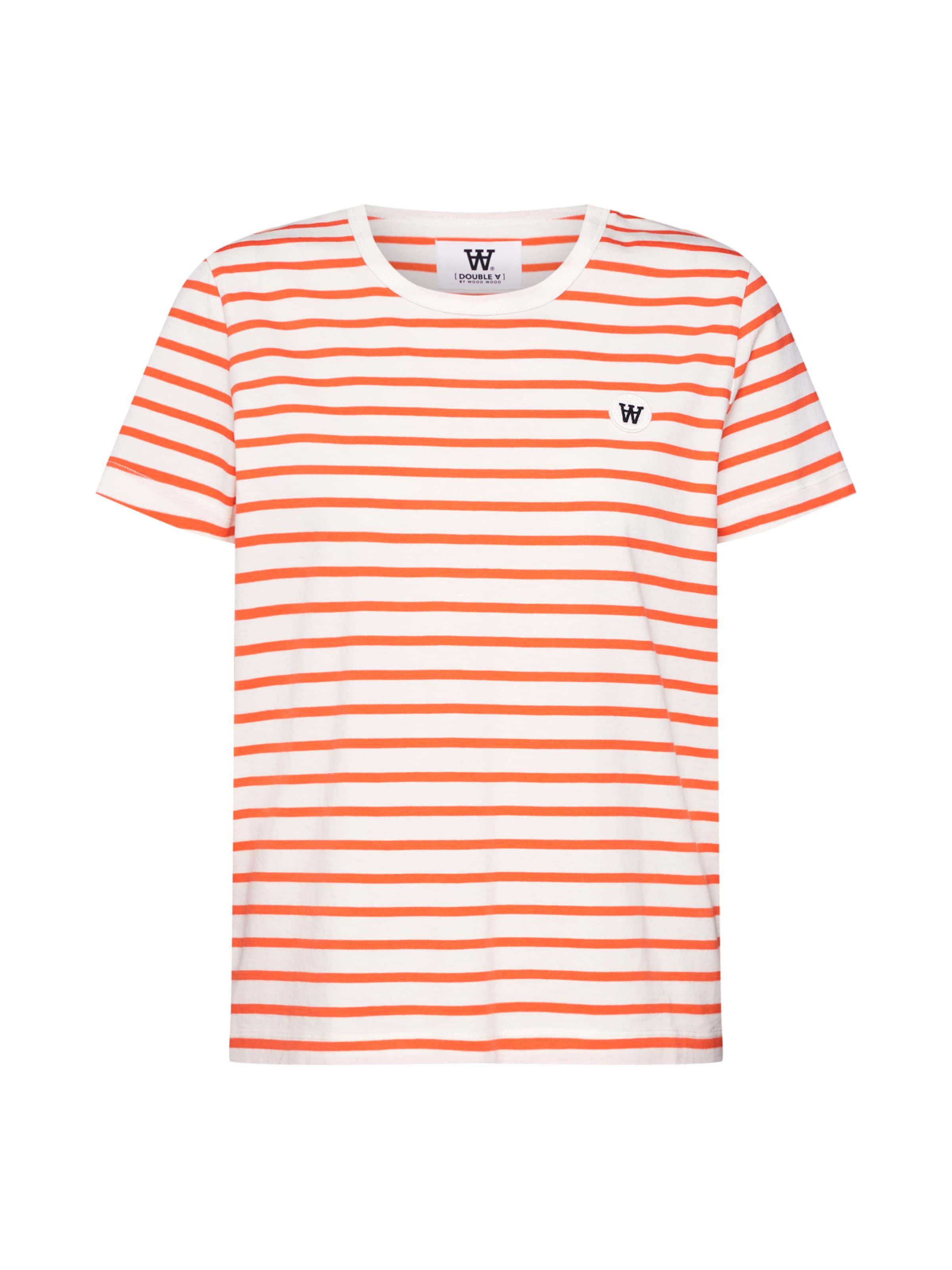 shirt 'uma' T Wood En OrangeBlanc ED29IH