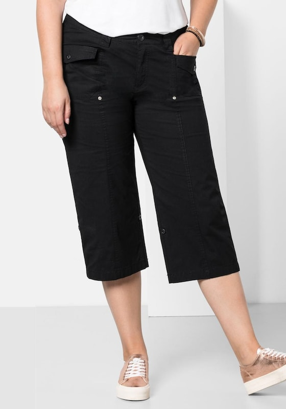 sheego casual Komfortable ¾-Stretch-Hose