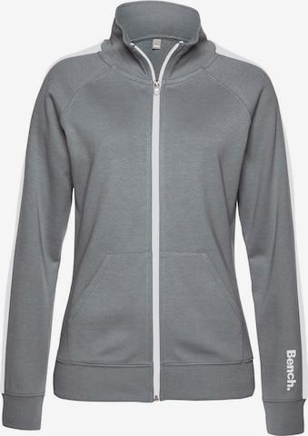 BENCH Zip-Up Hoodie in Grey