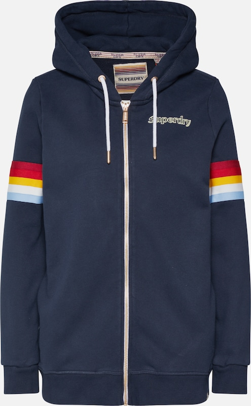 Superdry Sweatjacke 'RETRO ZIPHOOD' in navy, Produktansicht