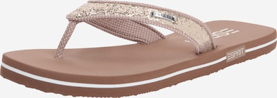 ESPRIT Slipper 'Glitter Thongs' in beige, Produktansicht