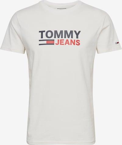 Tricou Tommy Jeans pe alb, Vizualizare produs