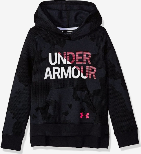 UNDER ARMOUR Pullover 'RIVAL HOODY ' in schwarz, Produktansicht