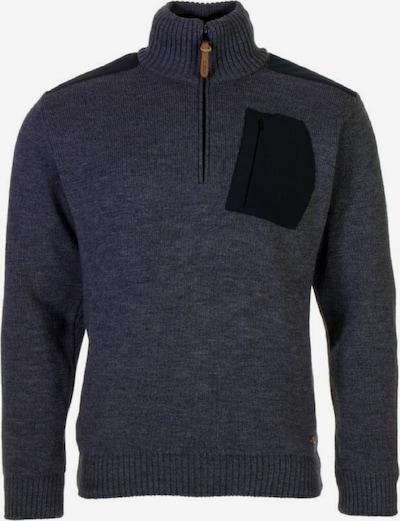CMP Pullover 'Knitted' in basaltgrau / schwarz, Produktansicht