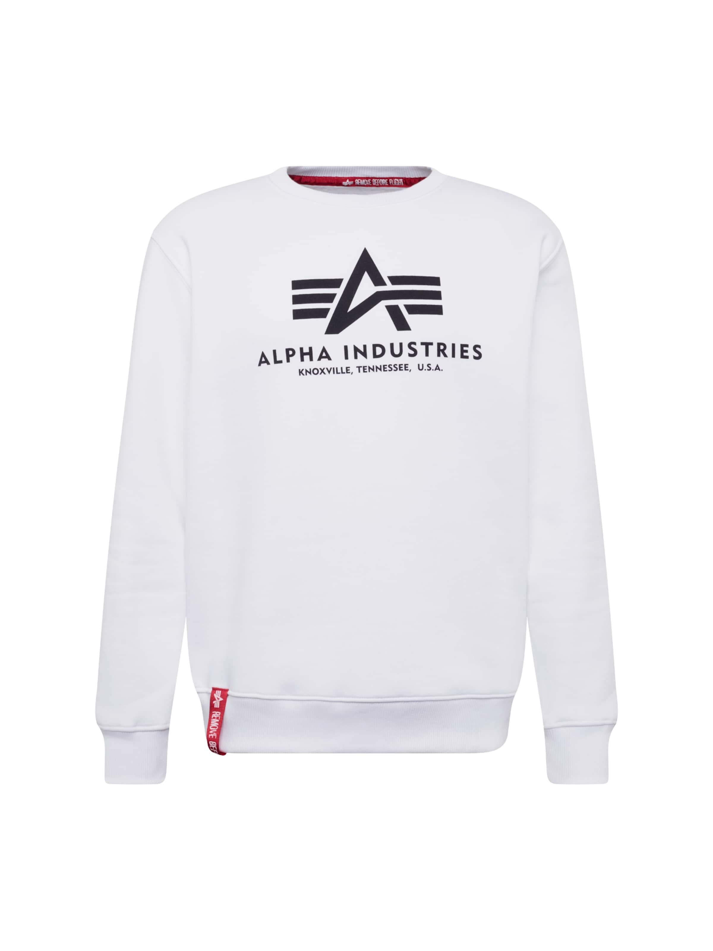Alpha Industries Blanc shirt Sweat En 'basic' P8nOXwk0