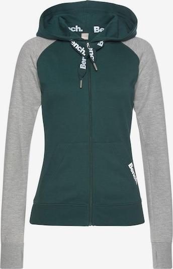BENCH Sweatjacke in grau / dunkelgrün, Produktansicht