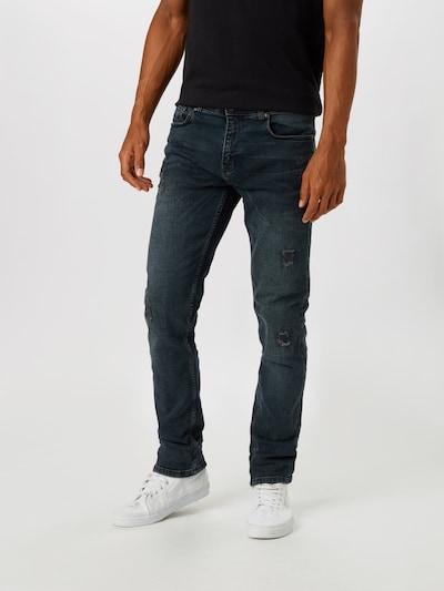 SHINE ORIGINAL Jeans in de kleur Blauw denim, Modelweergave