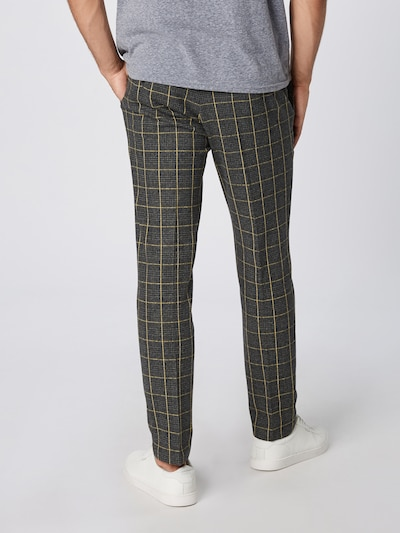 Pantaloni 'SIGHT' DRYKORN pe galben / gri închis: Privire spate