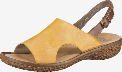 RIEKER Sandalen in braun / senf, Produktansicht